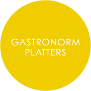 Gastronorm melamine dinnerware roundel