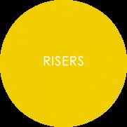 Risers Melamine Displayware Roundel