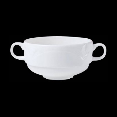 Stapelbare Suppentasse mit Henkeln