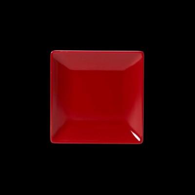 Quadratischer zweifarbiger Teller