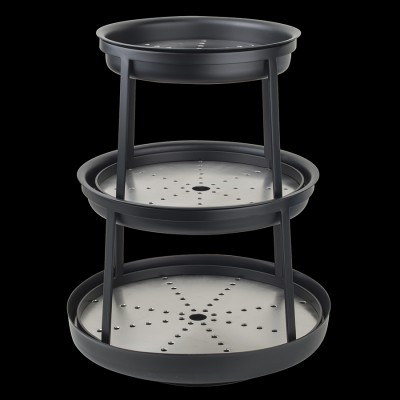 3-Tier Black Powder Coated Seafood Stand