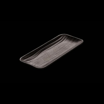 Rechteckiges Tablett, schwarz