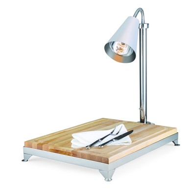 Carving Board Wood With Frame And Modern Lamp