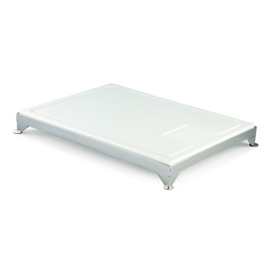 Carving Board White Poly With Groove