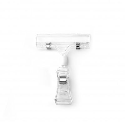 Transparenter Schildhalter mit PC-Federclip