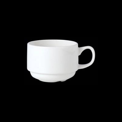 Flache stapelbare Tasse